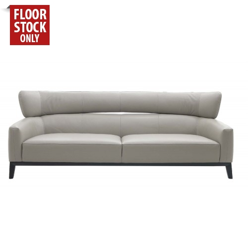 Silver Grey Leather Lounge